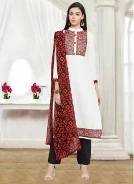 Print Work Pant Style Salwar Kameez
