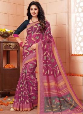 Print Work Traditional Saree
