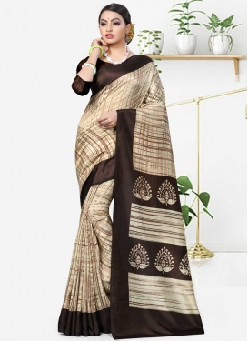 Print Work Traditional Saree For Casual
