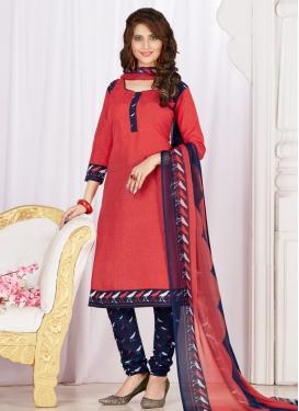 Print Work Trendy Churidar Salwar Kameez