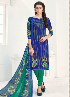 Print Work Trendy Churidar Salwar Suit