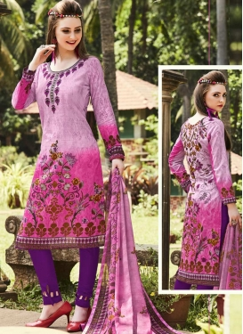 Print Work Trendy Pant Style Suit