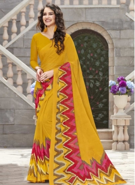 Print Work Trendy Saree