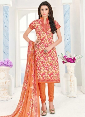 Print Work Trendy Straight Salwar Kameez