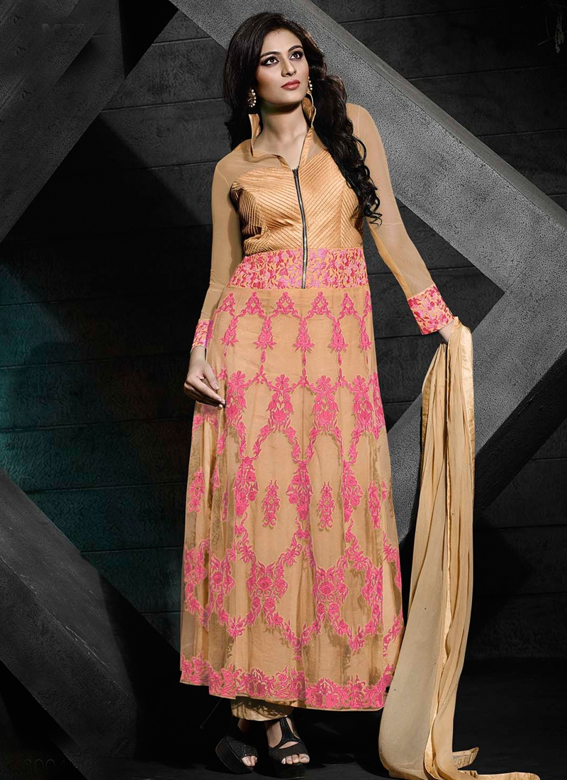 Pristine Embroidery Work Long Length Designer Suit