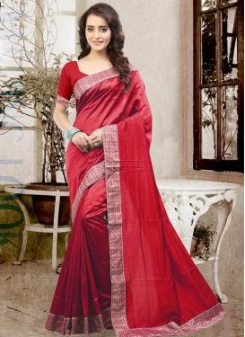 Pristine  Lace Work Contemporary Style Saree