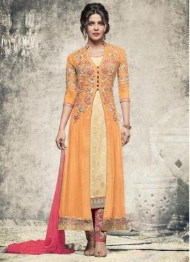 Priyanka Chopra Embroidered Work Pant Style Designer Salwar Kameez