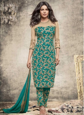 Priyanka Chopra Faux Georgette Pant Style Classic Salwar Suit
