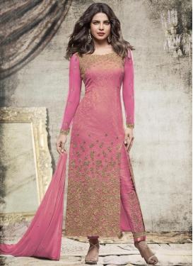 Priyanka Chopra Net Brasso Embroidered Work Pant Style Designer Salwar Kameez