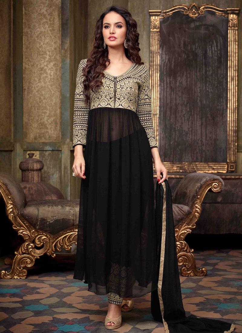 5a1c9034c2 Shop Prodigious Black Color Pant Style Designer Suit Online In Australia