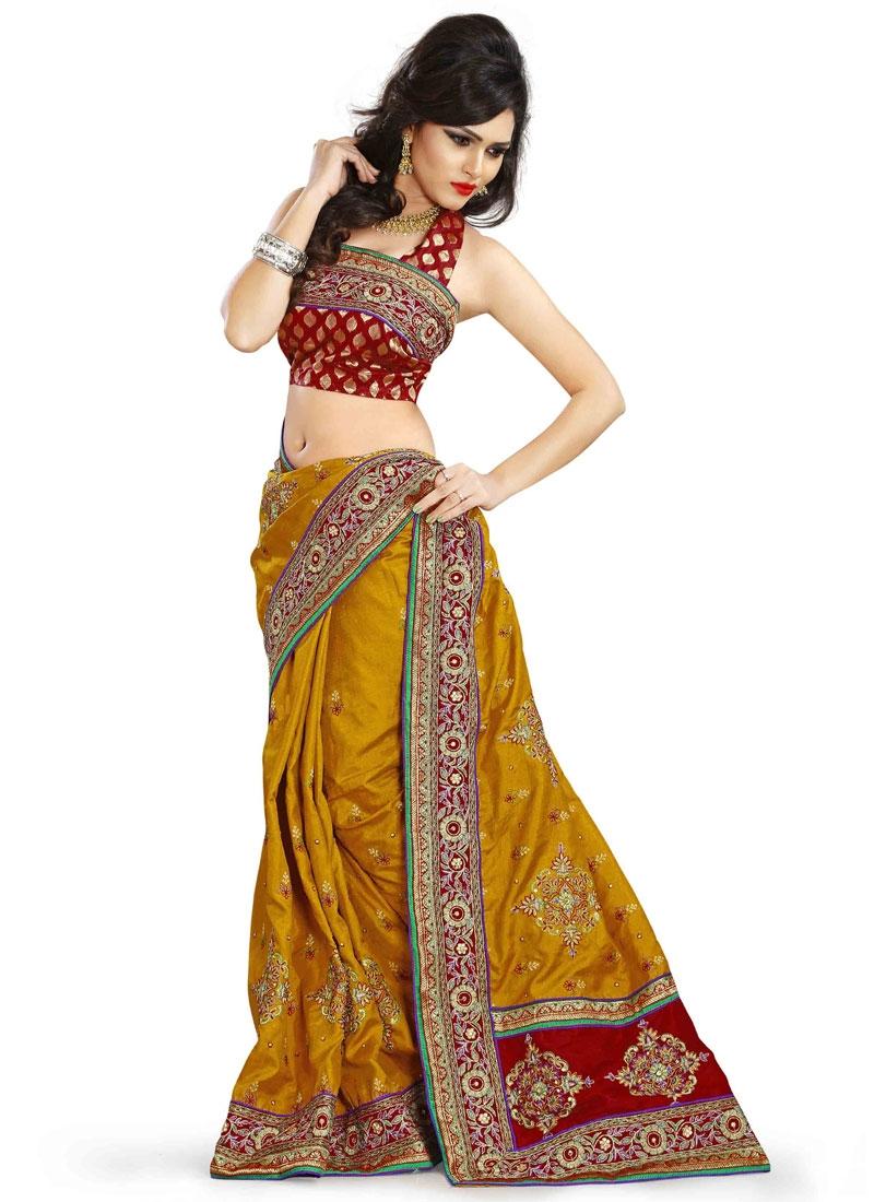 Prodigious Booti Work Silk Designer Saree