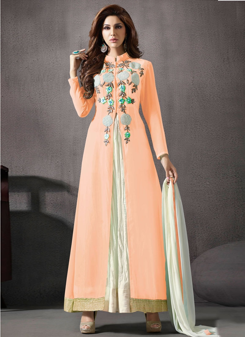 Prodigious Embroidery Work Ankle Length Designer Salwar Suit