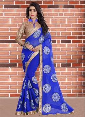 Prodigious Faux Georgette Designer Contemporary Saree For Ceremonial