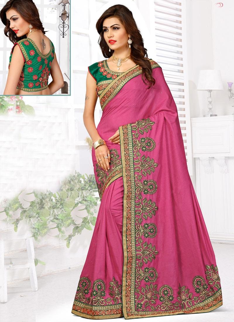 Prodigious Lace Work Manipuri Silk Designer Saree