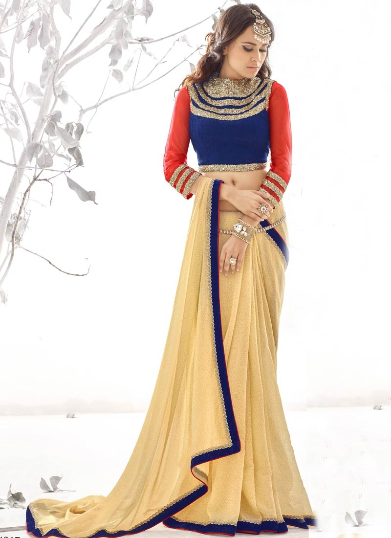 Prodigious Shimmer Georgette Party Wear Saree