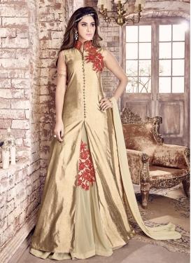 Prominent Bhagalpuri Silk Kameez Style Lehenga Choli