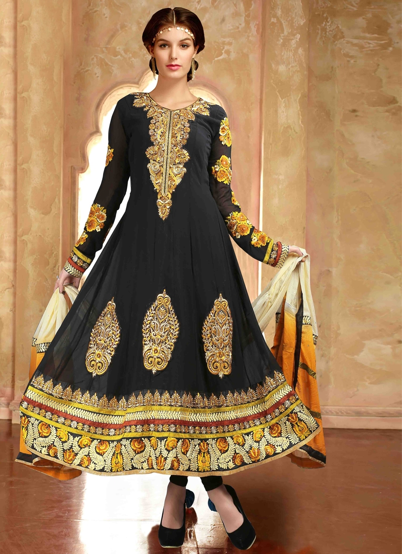 Prominent Booti Work Anarkali Suit