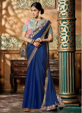 Prominent Faux Crepe Designer Contemporary Style Saree