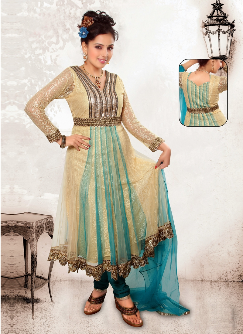 Prominent Floral Work Readymade Salwar Suit