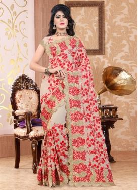 Pure Georgette Aari Work Trendy Saree