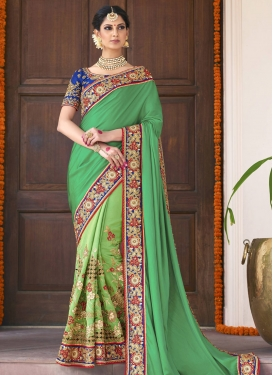 Pure Georgette Designer Contemporary Saree