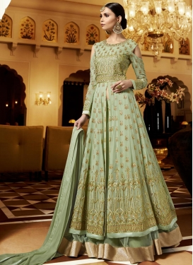 Pure Georgette Embroidered Work Designer Kameez Style Lehenga
