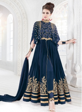 Pure Georgette Pant Style Salwar Kameez For Ceremonial