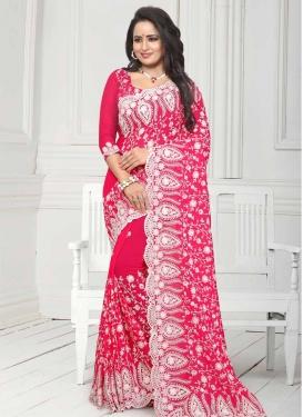 Pure Georgette Traditional Designer Saree For Bridal