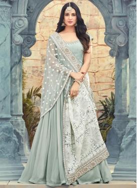 Pure Georgette Trendy Anarkali Salwar Kameez For Festival