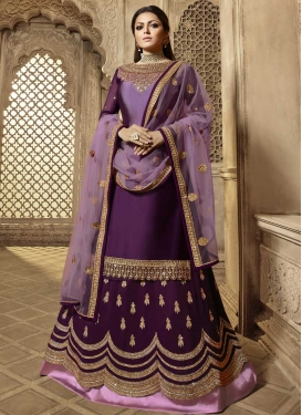 Purple and Violet Designer Kameez Style Lehenga Choli