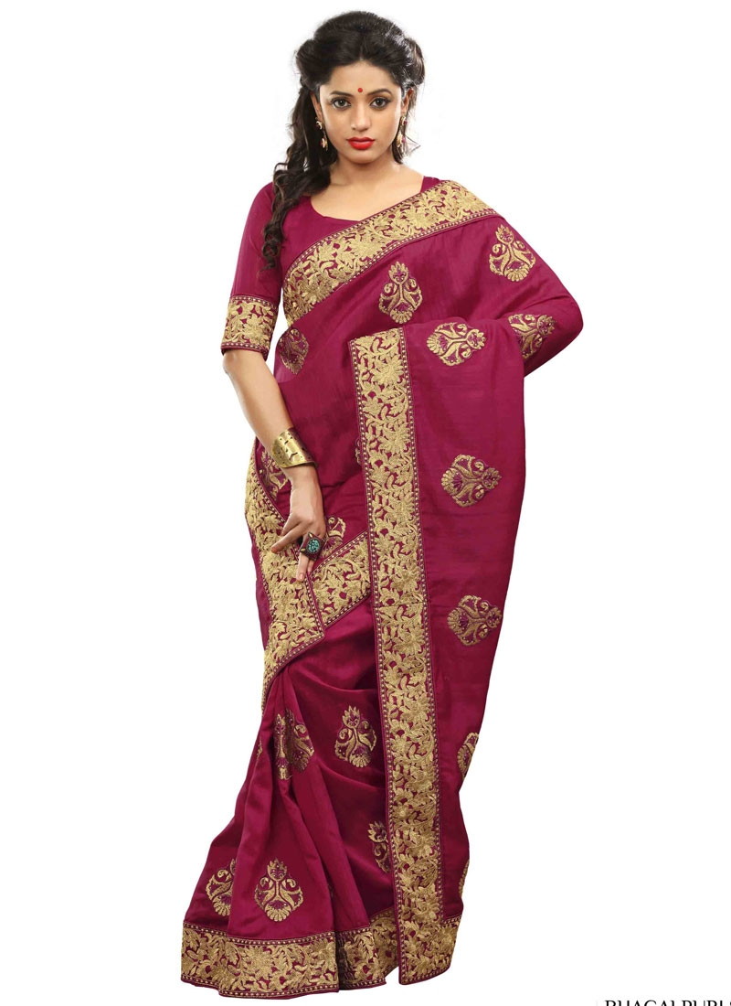 Radiant Booti And Lace Work Party Wear Saree