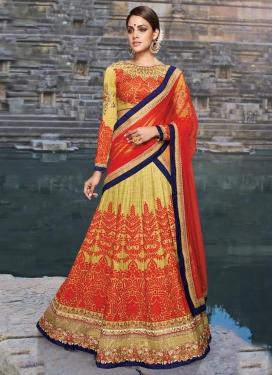 Radiant Embroidery And Stone Work Art Silk Bridal Lehenga Choli