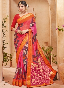 Radiant  Faux Georgette Contemporary Style Saree