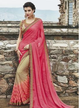 Radiant Lace Work Half N Half Saree