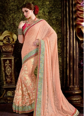 Radiant Net Beads Work Trendy Classic Saree