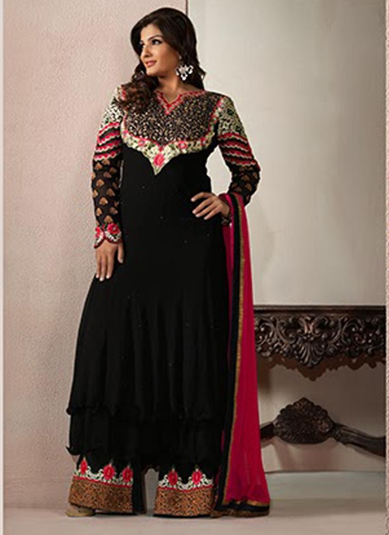 Raveena Tandon Georgette Salwar Kameez