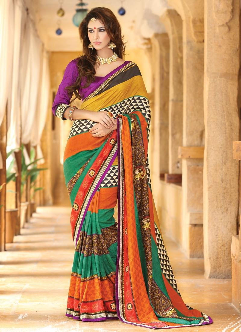 Ravishing Beads Enhanced Party Wear Saree