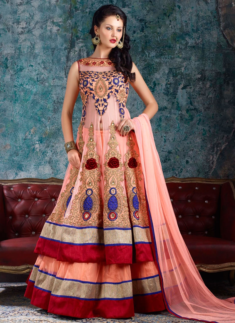 Ravishing Booti And Stone Work Designer Lehenga Choli