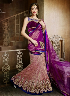 Ravishing Booti Work Brocade Wedding Lehenga Choli