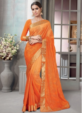 Ravishing  Chicken Work Trendy Classic Saree