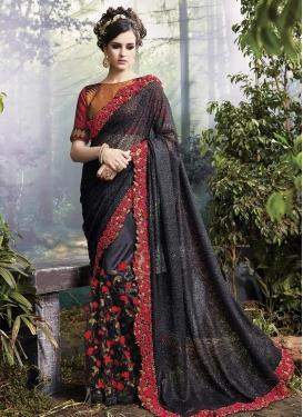 Ravishing Fancy Fabric Designer Contemporary Saree For Festival