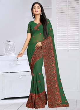 Ravishing Faux Georgette Contemporary Saree For Ceremonial