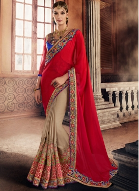 Ravishing  Half N Half Saree