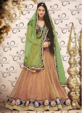 Ravishing  Net Embroidered Work A Line Lehenga Choli