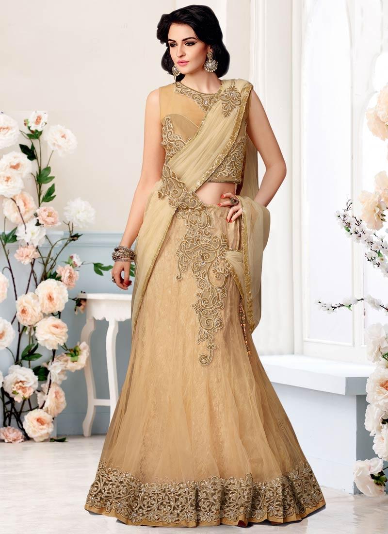 Ravishing Stone Work Net Bridal Lehenga Saree