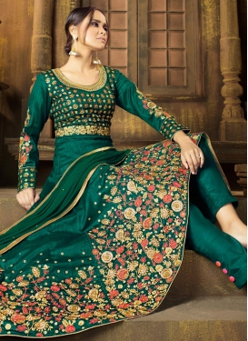 Raw Silk Pant Style Classic Salwar Suit