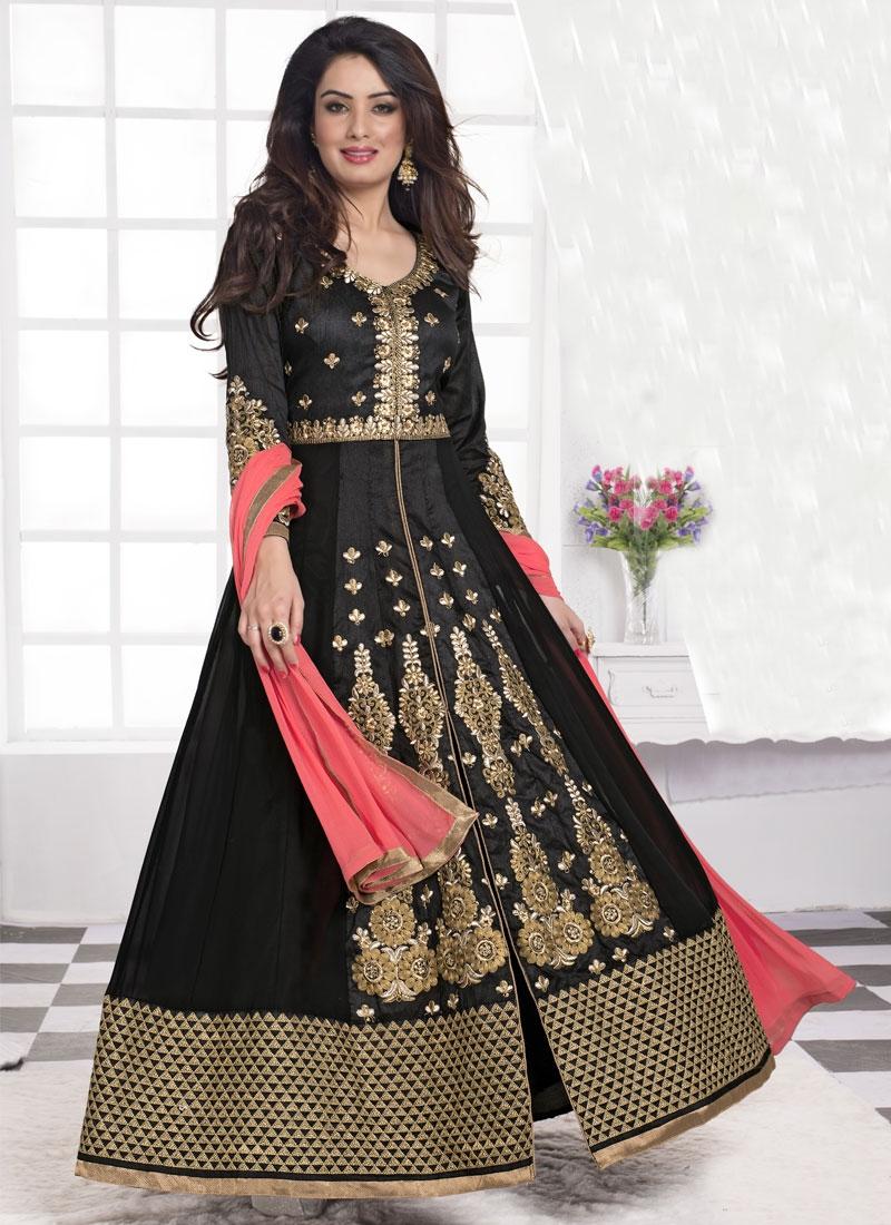 Refreshing Art Raw Silk Designer Salwar Suit