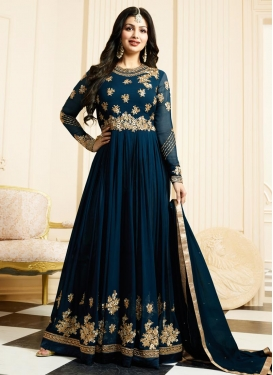Refreshing Ayesha Takia Faux Georgette Designer Floor Length Salwar Suit