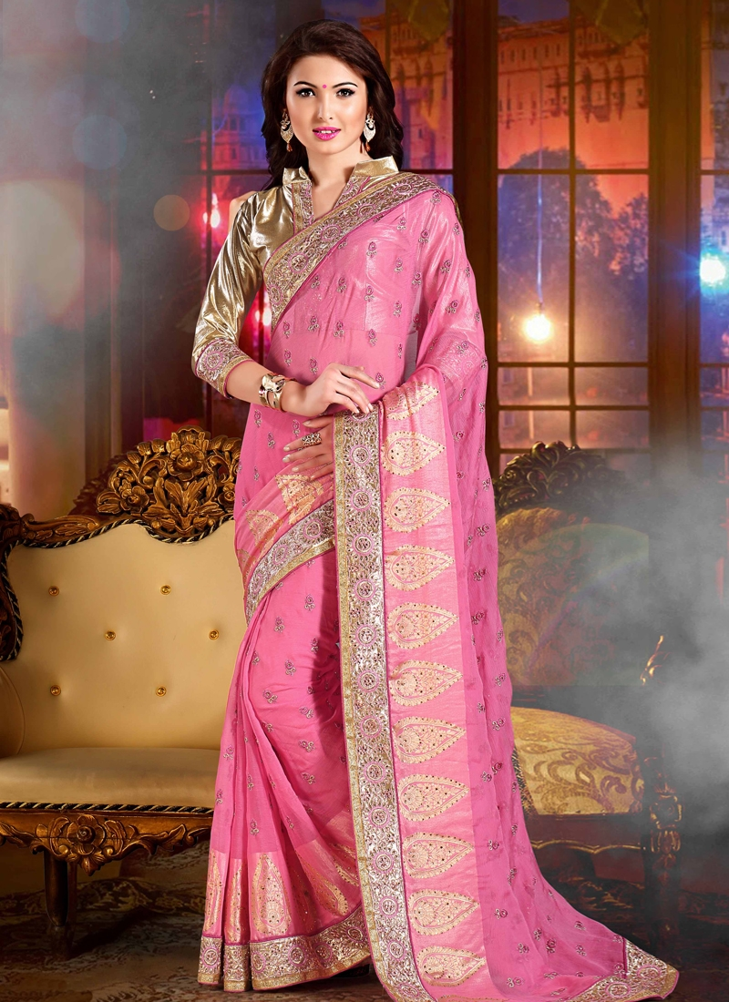 Refreshing Lace Work Designer Saree