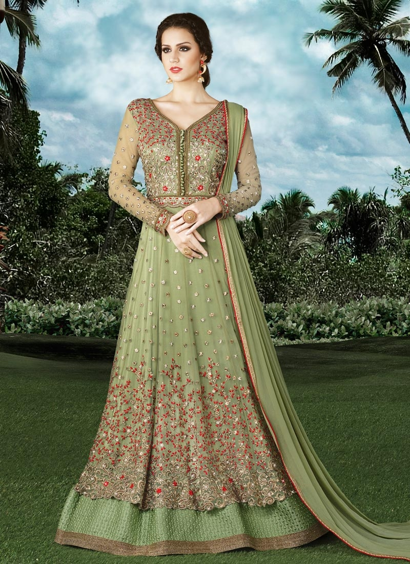 Refreshing Net Layered Designer Salwar Kameez